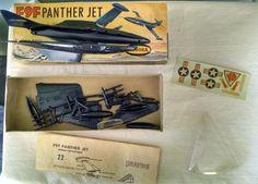 "Vintage 1960's F9F Panther Jet 1 4"" Scale Model Aurora Unbuilt | eBay Plastic Model Kits, Plastic Models, Scale Models, Panther, Aurora, Jet, Military, Ebay, Vintage"