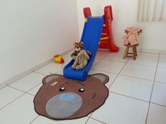 Tapete Urso - quarto infantil
