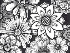 """What is a Zen Tangle Method? This article describe an art method, known as """"Zentangle Method"""". Zentangle Drawings, Doodles Zentangles, Doodle Drawings, Doodle Art, Easy Drawings, Zen Doodle, Easy Zentangle Patterns, Doodle Patterns, Tangle Doodle"""