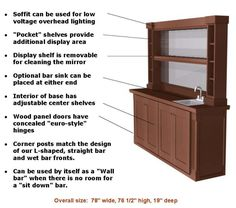 Home Bar Plans Easy Designs to Build your own Bar Classic L