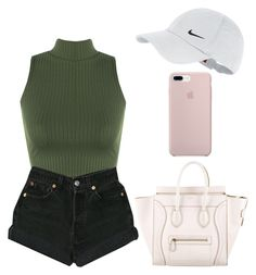 """""""outfit"""" by sweetswagger ❤ liked on Polyvore featuring CÉLINE, WearAll, NIKE and Levi's"""