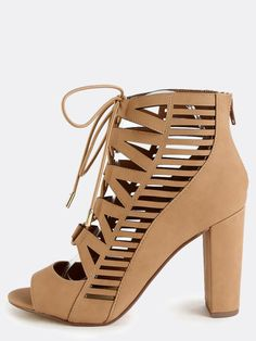29a483590c0 The Open Toe Tribal Cut Out Heels are the perfect daytime heel! Features an open  toe