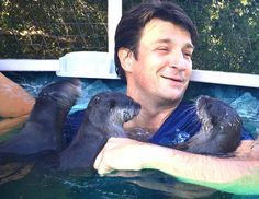 Nathan with Otters, enough said