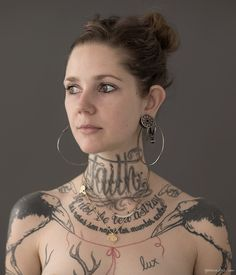 Ink & Skin, tattoo story, tattoo artist, neck tattoo, hoop earrings / Garance Doré