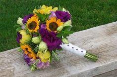 Sunflower Wedding Bouquets with lavender | Lavender Sunflower bouquet