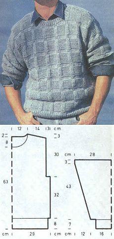 мужской полувер спортивного типа Sweater Knitting Patterns, Knitting Designs, Knitting Stitches, Knit Patterns, Hand Knitted Sweaters, Baby Sweaters, Crochet Men, Mens Jumpers, Sweater Design