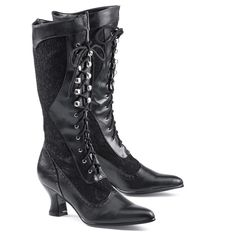 I have these boots. They're more narrow in the calf than I like, but for the price they are okay.