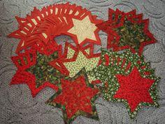 christmas stars patchwork vánočnmí prostírání hvězda