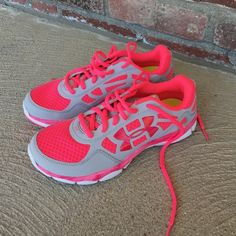 Under Armour Limited Edition Breast Cancer Shoes New without box. Pink and white. Never worn. Size 7.5 Under Armour Shoes Athletic Shoes