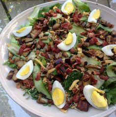 Brinjal and bacon salad Bacon Salad, Midweek Meals, Food Trends, Cobb Salad, Salads, Recipies, Healthy Eating, Events, Blog