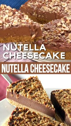 Easy Cake Recipes, Easy Desserts, Baking Recipes, Cookie Recipes, Delicious Desserts, Desserts Nutella, Nutella Cake, Best Dessert Recipes, Health Desserts