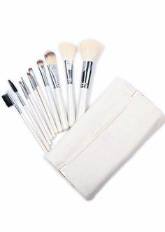 10pcs White Makeup Brush Set pictures