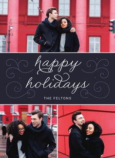 Send this lovely card on Postable. Add your info on the site and Postable prints, addresses and mails it out for you. No more licking! Holidays And Events, Happy Holidays, Holiday Cards, Christmas Cards, Picture Cards, Christmas Time, Special Occasion, Winter Decorations, My Favorite Things