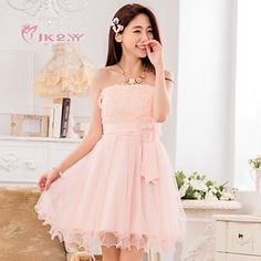 Women's Fashion Elegant Strapless Bridesmaid Dress Party Dress – USD $ 34.91