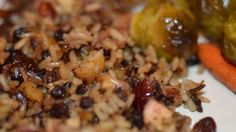 Dried mixed herbs, dried fruit, and bacon instill a blend of two rices with a magnificent array of flavors!