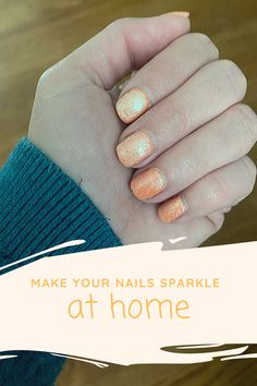 Make your nails sparkle AT HOME all on your own! It's a gel polish that goes on just like regular nail polish. Only one step! Easy to use and so many great colors to choose from. I added Kameleon Spirit over April In Madrid to create this look. {ad} #nails #nailstyle #nailart #gelnails #gelmoment #style #fashion #fashionista