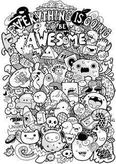Doodle Coloring, Colouring Pages, Coloring Books, Cool Doodles, Kawaii Doodles, Doodle Art Drawing, Doodle Sketch, Vexx Art, Doddle Art