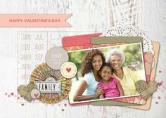Love You Family TEMPLATE: 131073 By Roxanne Buchholz 5 x 7 Invitation  Let a family member know how much you mean to them this Valentine's Day!