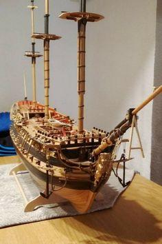 La estructura Scale Model Ships, Scale Models, Black Pearl Ship, Model Ship Building, Pirate Ships, Wood Boats, Tall Ships, Sailboat, Construction