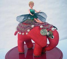 Red Circus elephant handmade