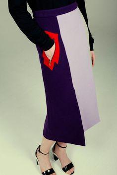 purple fringe skirt by miuniku Art Conceptual, Fringe Skirt, Purple, Blue, Sweater Cardigan, Women Wear, Street Style, Skirts, Sweaters