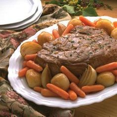 Pressure Cooked pot-roast2.....If you like, you can add pour a can of mushroom soup on the meat