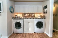 Huge photo gallery of 101 laundry room ideas and designs for 2017: small, side-by-side, stackable, storage and more.