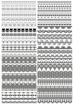 Floral Ornamental Borders Vector Set Free Vector Cdr Download 3axis Co Vector Free Vector Floral