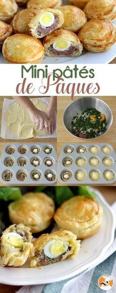 Mini Easter Pies, Ptitchef Recipe - made - Cuban Recipes, Pizza Recipes, Cooking Recipes, Tofu Recipes, Cooking Tips, Easter Pie, Food Porn, Savory Pastry, Ramadan Recipes