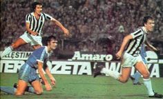 Juventus 2 Man City 0 (2-1 agg) in Sept 1976 in Turin. Gaetano Scirea shoots for goal #UEFACup1R2Leg