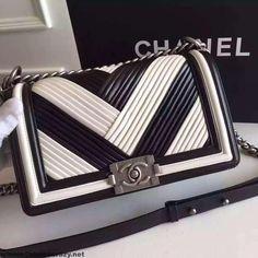 7ebf1e544ef Chanel A67086 Boy Chanel Pleated Calfskin Medium Flap Bag Paris 2016   Chanelhandbags