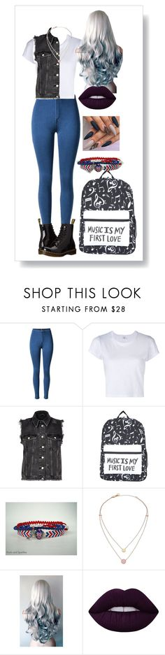 """""""Fall"""" by ally03 ❤ liked on Polyvore featuring RE/DONE, River Island, Michael Kors, Lime Crime and Dr. Martens"""