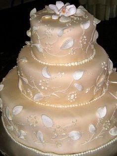 White Chocolate Grand Marnier Wedding Cake