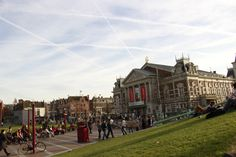 Amsterdam: Museumplein! Where you can look at art till you drop, and then rest in the park, hopefully it's a sunny day.