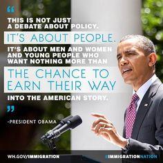 Encontré esta cita en Pinterest. Esta cita es significativa, ya que está diciendo que la inmigración no es sólo una política que se debe hablar. Esta cita está diciendo que se trata de la vida de las personas. Las personas que llegaron a la U.S de una vida mejor. Los EE.UU. está debatiendo si se debe dejar que dicen o no. Quieren la gente para ganar su camino en los EE.UU. y para convertirse en un ciudadano americano.