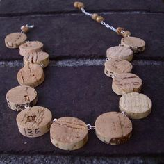She+Wore+a+Cork+Necklace+by+betinaworks+on+Etsy,+$40.00