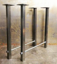 Metal Table Legs- Threaded Rod by SteelImpression on Etsy https://www.etsy.com/listing/199980376/metal-table-legs-threaded-rod