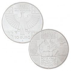 BRD 10 Euro 2013 150 Jahre Rotes Kreuze, st (CuNi, 14g, Ø 32,5mm), PP (625er Silber, 16g, Ø 32,5mm), Jaeger-Nr. 579