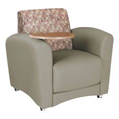 Lounge Seating w/ Tablet Arm - Chair - Plum back w/ taupe seat