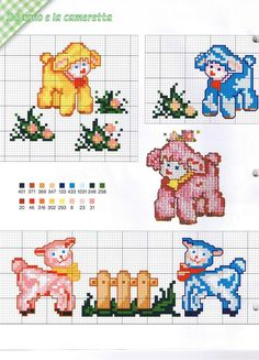 Schema punto croce Agnellini Sheep Cross Stitch, Cross Stitch Boards, Cross Stitch Animals, Cross Stitching, Cross Stitch Embroidery, Embroidery Patterns, Cross Stitch Patterns, Cute Sheep, Plastic Canvas Patterns