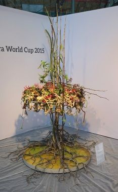 """Fleurop - Interflora World Cup Berlin Day 1. The first task, """"100% personal"""" was all about the finalists' personalities. Check out this design by Mehmet Yilmaz from Turkey, making off and interview on www.flowerweb.com..."""
