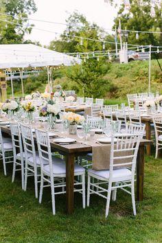 #outdoor-dinner-party, #chair  Photography: M Three Studio - mthreestudio.com  Read More: http://www.stylemepretty.com/2014/06/05/lakeside-al-fresco-wedding/