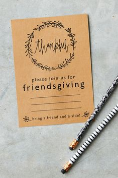 If you're hosting a celebration this year, these printable invitation cards are the perfect way to invite your guests; just print them out, fill in the details, and pop in the mail! We have invitations for any style of gathering! #friendsgiving #friendsgivinginvitations #printableinvites #bhg Invitation Cards, Invite, Invitations, Bring A Friend, Fill, Celebration, Thanksgiving, Bring It On, Printable