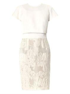 Linen and fil coupé dress | Giambattista Valli | MATCHESFASHI...