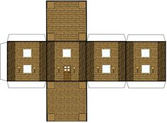 paper minecraft | Minecraft paper house (wooden) (click to enlarge this image) and ...