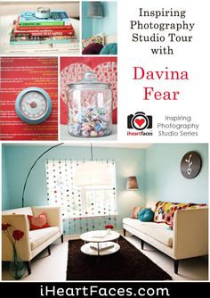 Visual tour of Davina Fear's home photography studio and office - Featured on I Heart Faces
