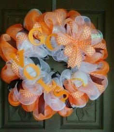 Tennessee Volunteers deco mesh wreath