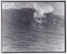 20 FOOT WAIMEA WAVE ORIGINAL HAND PRINTED BY PHOTOGRAPHER ON 8X10 MATT