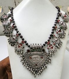antique vintage ethnic tribal silver necklace by TRIBALEXPORT