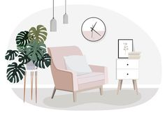 This online interior design package is perfect for you if your house is almost finished and you already have all your big ticket items but just need help pulling it all together with a cohesive colour scheme. Flat Design, Design Loft, Design Retro, Design Design, House Design, Interior Design Vector, Home Interior Design, Interior Architecture, Interior Logo